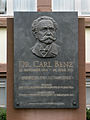 Karlsruhe - Institute of Technology - Ehrenhof - Gedenktafel Carl Benz.jpg
