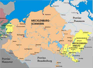 Partitions of Mecklenburg - Mecklenburg after the third partition of Mecklenburg