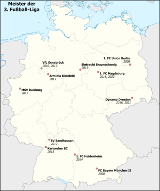 Map showing the champions of 3. Liga Karte-Meister-Liga-3.png