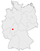 Location of Gießen in Germany
