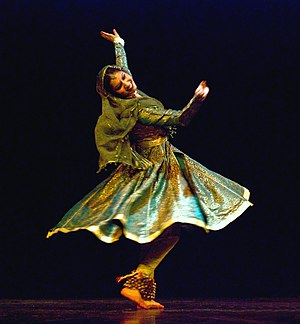 Kathak - Kathak dancer Richa Jain performing the chakkarwala tukra move in Kathak.
