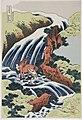 Katsushika Hokusai (1760-1849), In de Paarden-was waterval (1835).jpg