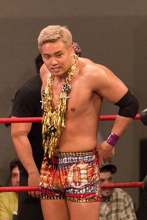Wrestle Kingdom 7 - Kazuchika Okada, who challenged for the IWGP Heavyweight Championship in the main event