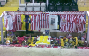 Keith Alexander (footballer) - A memorial to Alexander at Lincoln City's Sincil Bank