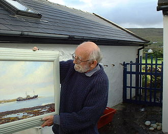 Kenneth King (artist) - Kenneth King, 2009, outside Straid Studio-Gallery
