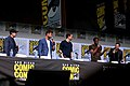 Kevin Feige, Chris Hemsworth, Tom Hiddleston, Chadwick Boseman & Mark Ruffalo (36078782312).jpg