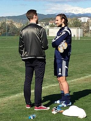 Kevin Walker (Swedish footballer) - Walker training with Djurgårdens IF.
