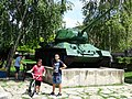 Kids with T-34 Tank Monument - Silistra - Bulgaria (43079127362).jpg