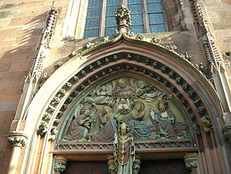 St. Valentin, Kiedrich - Tympanum above the main entrance