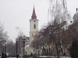 Kikinda, Main Street and Catholic Church.jpg