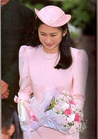 Kiko, Princess Akishino - A newly engaged Kiko Kawashima in 1990
