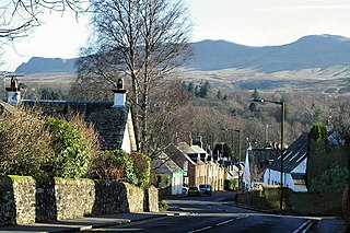 Killearn village in Stirling, Scotland, UK