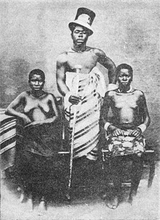 Duala people - King Akwa, 1875
