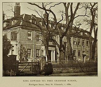 King Edward VI School, Bury St Edmunds - The school in 1880