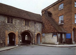 Kingsgate, Winchester one of two surviving medieval gates to the city of Winchester, England