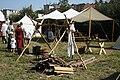 Kitchen place at medieval camp at UNESCO celebrations 2009 in Třebíč, Třebíč District.jpg