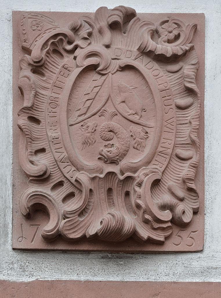 File:Kloster Eberbach Klosterschänke Wappen Adolph Werner.jpg ...