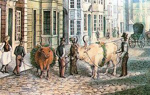 Freimarkt - Procession in the year 1845