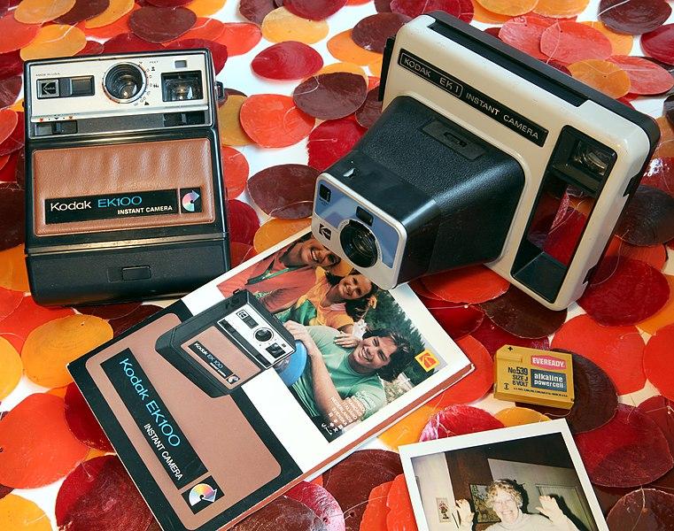 File:Kodak EK 100 and EK 1 Instant Camera.jpg