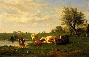 Gerard Bilders - Image: Koeien in de weide