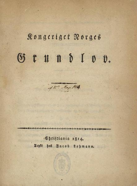 File:Kongeriget Norges Grundlov 17 V 1814.djvu