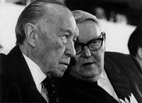 Konrad Adenauer et Ludwig Erhard