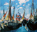 Konrad Mägi - Laevad Veneetsias - 1922-1923 õli.JPG
