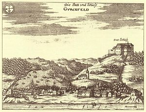 Krško Castle - Krško Castle: 1689 engraving in Valvasor's The Glory of the Duchy of Carniola