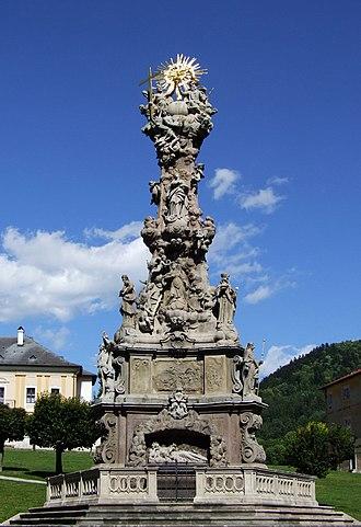 Kremnica - Plague column on main square.