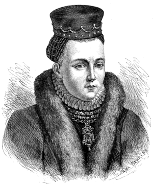 Christina Gyllenstierna - A 19th-century drawing of Gyllenstierna, known from a popular Swedish magazine published around 1880, though not an authenticated likeness of her