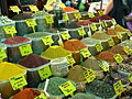 Kruiden in Egyptische bazaar Eminönü Istanbul.JPG