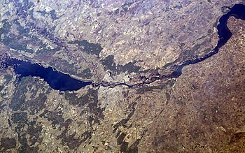 English: Kyiv from the ISS.