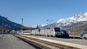 Intercités de Nuit - Intercités de Nuit arriving in Briançon after its journey from Paris
