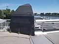Lágymányos Bridge, memorial stone, 2017 Újbuda.jpg