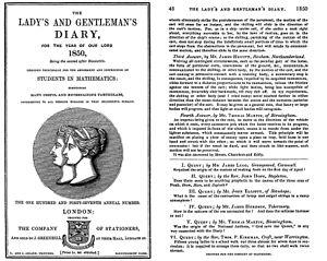 Kirkman's schoolgirl problem - Original publication of the problem