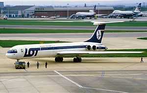 Ilyushin Il-62 - Il-62M of LOT Polish Airlines in 1987. One month later, this plane crashed south of Warsaw.