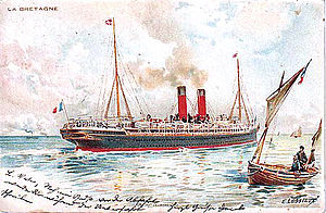 SS La Bretagne in her post-1895 configuration