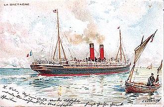 SS La Bretagne - SS La Bretagne in her post-1895 configuration