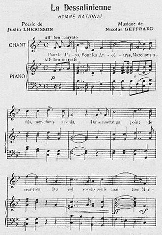 La Dessalinienne - Image: La Dessalinienne Hymne National