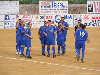 Lorca FC - La Hoya Deportiva, during a match of the 2009–10 season.