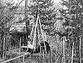 Ladder, garden, man, woman, grimace Fortepan 3432.jpg