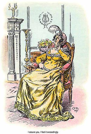 Lady Catherine de Bourgh - Lady Catherine de Bourgh by C. E. Brock, 1895