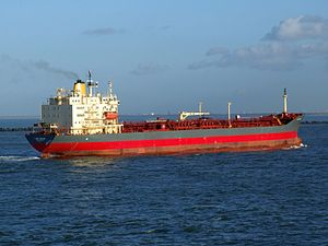 Lady Chiara p5 approaching Port of Rotterdam, Holland 29-Nov-2006.jpg