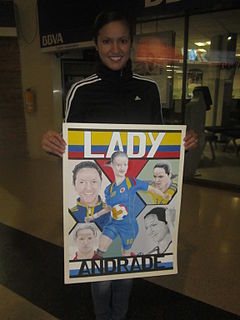 Lady Andrade Colombian footballer