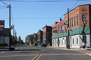 Lake Linden, Michigan - Downtown listed as the Lake Linden Historic District