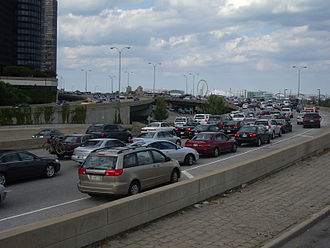 Lake Shore Drive - Traffic near Harbor Point Tower