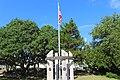 Lakeside Park, Veteran's Memorial Sculpture Garden, Veterans memorial from East.jpg