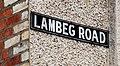 Lambeg Road sign, Lambeg - geograph.org.uk - 1973172.jpg