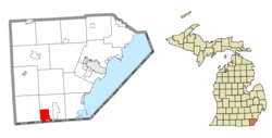 Location within Monroe County