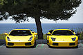 Lamborghini Gallardo and Murcielago by the Beach (18384437378).jpg